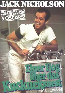 One Flew Over the Cuckoo's Nest - 11 x 17 Movie Poster - German Style A