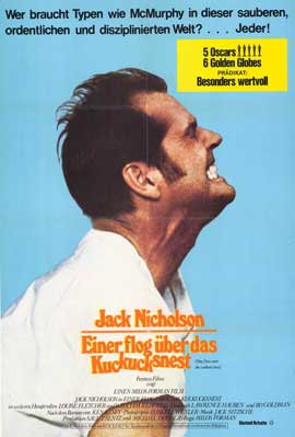 One Flew Over the Cuckoo's Nest - 11 x 17 Movie Poster - German Style B