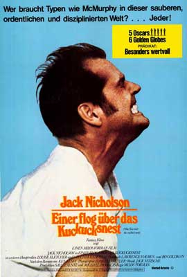One Flew Over the Cuckoo's Nest - 27 x 40 Movie Poster - German Style A