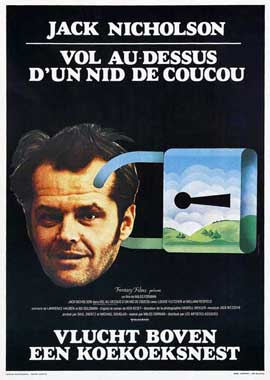 One Flew Over the Cuckoo's Nest - 27 x 40 Movie Poster - Belgian Style A