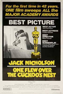One Flew Over the Cuckoo's Nest - 27 x 40 Movie Poster - Style E
