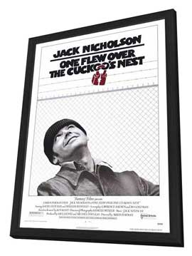 One Flew Over the Cuckoo's Nest - 11 x 17 Movie Poster - Style A - in Deluxe Wood Frame