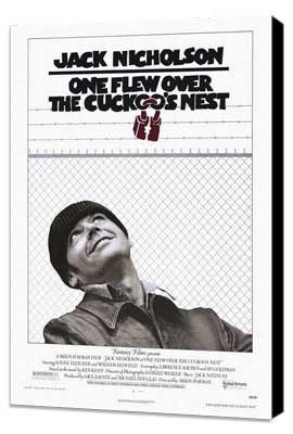One Flew Over the Cuckoo's Nest - 27 x 40 Movie Poster - Style A - Museum Wrapped Canvas