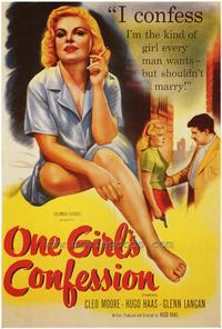 One Girl's Confession - 43 x 62 Movie Poster - Bus Shelter Style A