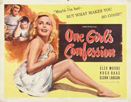 One Girl's Confession - 22 x 28 Movie Poster - Half Sheet Style A