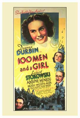 One Hundred Men and a Girl - 27 x 40 Movie Poster - Style A
