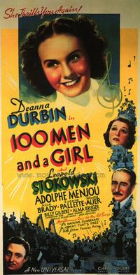 One Hundred Men and a Girl - 43 x 62 Movie Poster - Bus Shelter Style A