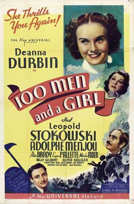 One Hundred Men and a Girl - 27 x 40 Movie Poster - Style B