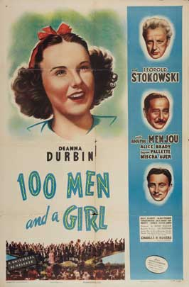One Hundred Men and a Girl - 11 x 17 Movie Poster - Style E