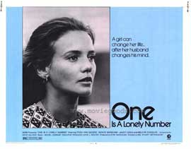 One is a Lonely Number - 11 x 14 Movie Poster - Style A