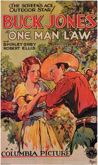 One Man Law - 43 x 62 Movie Poster - Bus Shelter Style A