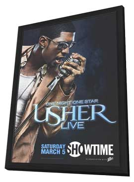 One Night One Star: Usher Live - 11 x 17 TV Poster - Style A - in Deluxe Wood Frame