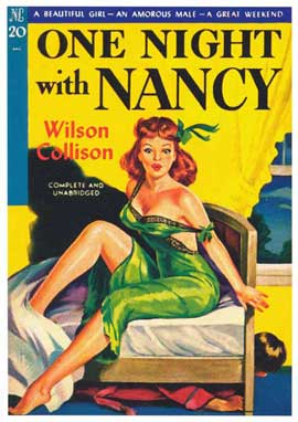 One Night with Nancy - 11 x 17 Retro Book Cover Poster