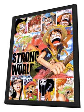 One Piece Film: Strong World - 11 x 17 Movie Poster - Japanese Style D - in Deluxe Wood Frame