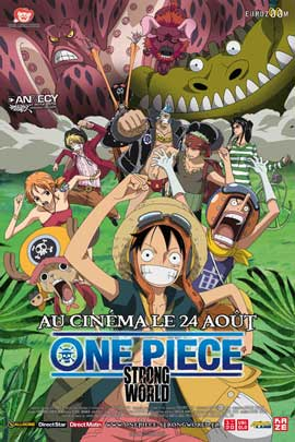 One Piece Film: Strong World - 11 x 17 Movie Poster - French Style A