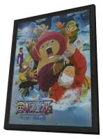 One Piece Movie: The Great Gold Pirate - 11 x 17 Movie Poster - Japanese Style A - in Deluxe Wood Frame