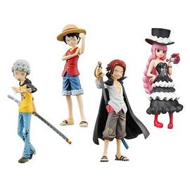 One Piece Movie: The Great Gold Pirate - Promise of the Straw Hat Half Age Figure 4-Pack