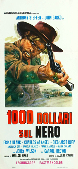 One Thousand Dollars on the Black - 43 x 62 Movie Poster - German Style A