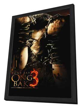 Ong Bak 3 - 27 x 40 Movie Poster - Style A - in Deluxe Wood Frame