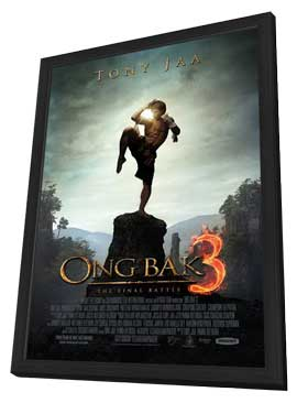 Ong Bak 3 - 11 x 17 Movie Poster - Style C - in Deluxe Wood Frame
