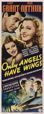 Only Angels Have Wings - 14 x 36 Movie Poster - Insert Style A