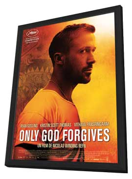 Only God Forgives - 27 x 40 Movie Poster - French Style A - in Deluxe Wood Frame