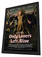 Only Lovers Left Alive - 11 x 17 Movie Poster - German Style A - in Deluxe Wood Frame