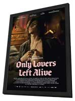 Only Lovers Left Alive - 27 x 40 Movie Poster - German Style C - in Deluxe Wood Frame