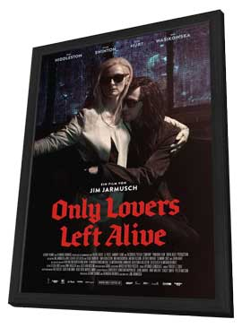 Only Lovers Left Alive - 27 x 40 Movie Poster - German Style B - in Deluxe Wood Frame