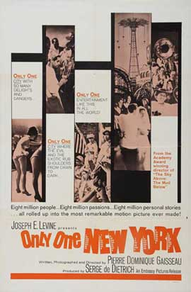Only One New York - 11 x 17 Movie Poster - Style A
