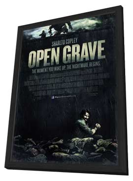 Open Grave - 27 x 40 Movie Poster - Style A - in Deluxe Wood Frame