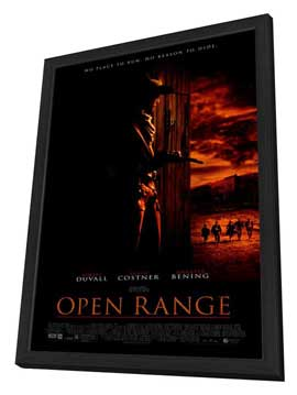 Open Range - 27 x 40 Movie Poster - Style A - in Deluxe Wood Frame