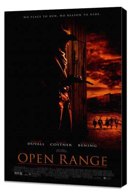 Open Range - 27 x 40 Movie Poster - Style A - Museum Wrapped Canvas