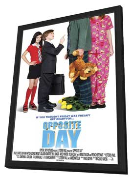 Opposite Day - 11 x 17 Movie Poster - Style A - in Deluxe Wood Frame