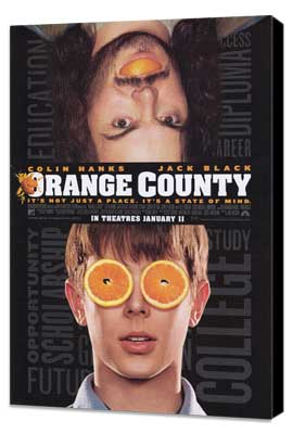 Orange County - 27 x 40 Movie Poster - Style A - Museum Wrapped Canvas