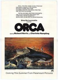 Orca - 11 x 17 Movie Poster - Style B