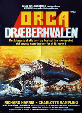 Orca - 27 x 40 Movie Poster - Danish Style A