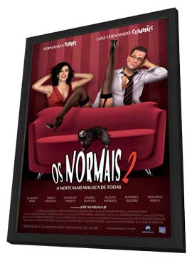 Os Normais 2 - A Noite Mais Maluca de Todas - 11 x 17 Movie Poster - Brazilian Style A - in Deluxe Wood Frame