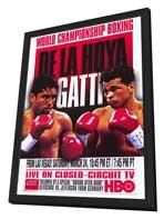 Oscar De La Hoya vs  Arturo Gatti - 11 x 17 Boxing Promo Poster - Style A - in Deluxe Wood Frame