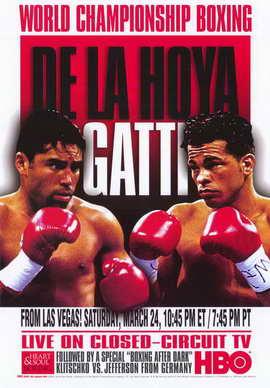 Oscar De La Hoya vs  Arturo Gatti - 11 x 17 Boxing Promo Poster - Style A
