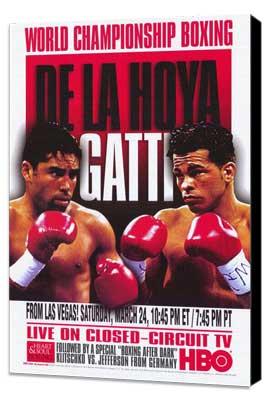 Oscar De La Hoya vs  Arturo Gatti - 11 x 17 Boxing Promo Poster - Style A - Museum Wrapped Canvas