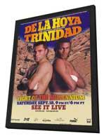 Oscar De La Hoya vs Felix Trinidad - 11 x 17 Boxing Promo Poster - Style A - in Deluxe Wood Frame