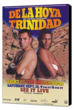 Oscar De La Hoya vs Felix Trinidad - 11 x 17 Boxing Promo Poster - Style A - Museum Wrapped Canvas