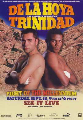 Oscar De La Hoya vs Felix Trinidad - 11 x 17 Boxing Promo Poster - Style A