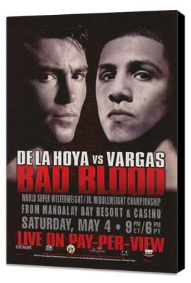 Oscar De La Hoya vs. Fernando Vargas - 11 x 17 Boxing Promo Poster - Style A - Museum Wrapped Canvas