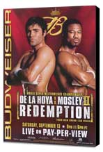 Oscar De La Hoya vs Shane Mosley - 11 x 17 Boxing Promo Poster - Style A - Museum Wrapped Canvas