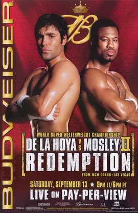 Oscar De La Hoya vs Shane Mosley - 11 x 17 Boxing Promo Poster - Style A