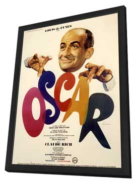 Oscar - 11 x 17 Movie Poster - French Style A - in Deluxe Wood Frame