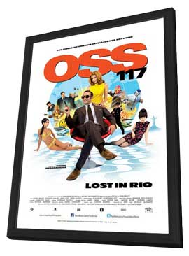 OSS 117 - Lost in Rio - 27 x 40 Movie Poster - Style A - in Deluxe Wood Frame