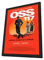 OSS 117: Cairo, Nest of Spies - 11 x 17 Movie Poster - Style A - in Deluxe Wood Frame